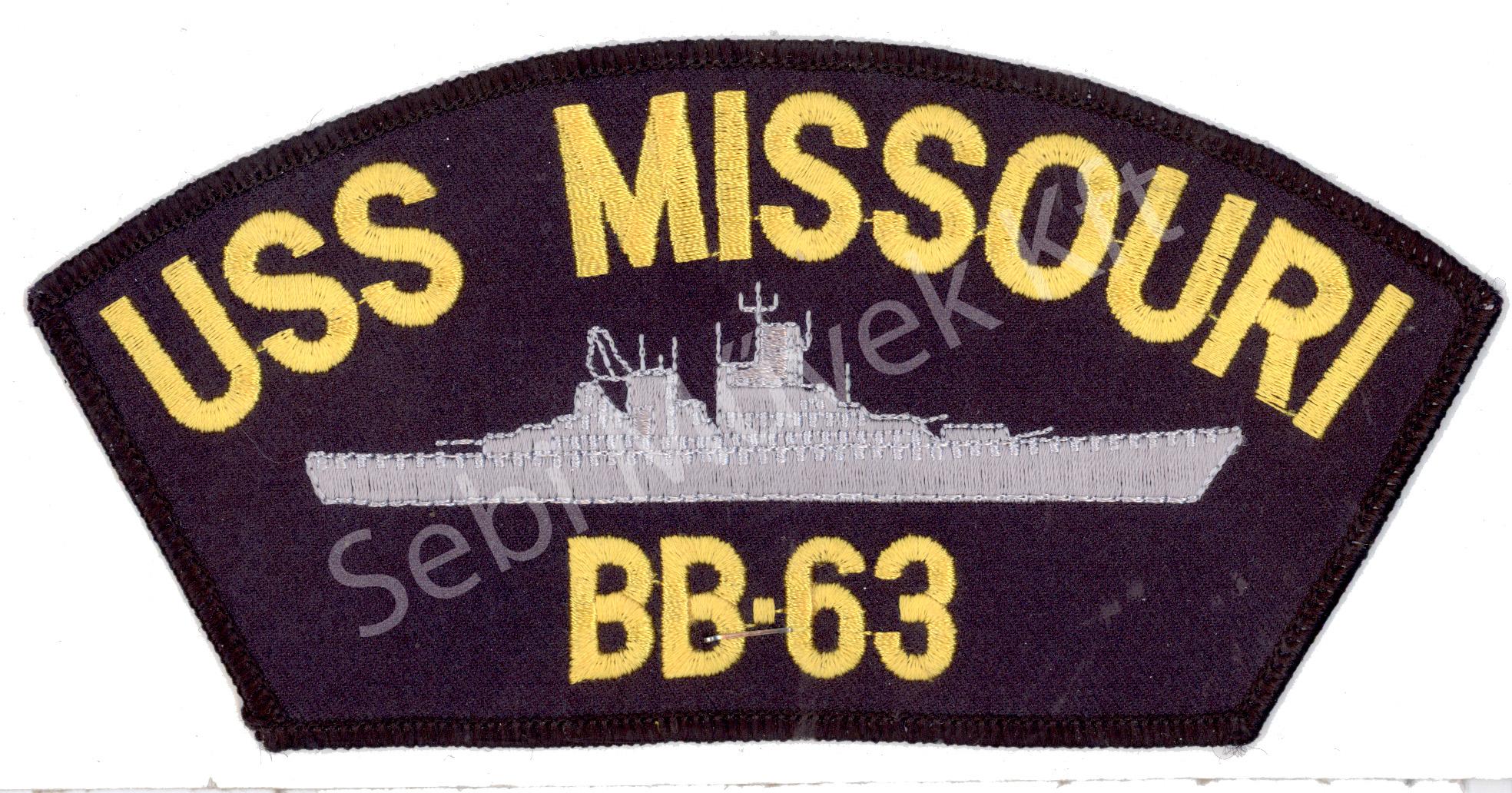USS MISSOURI felvarró